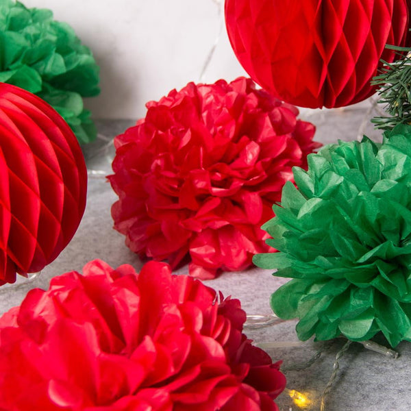 Merry Christmas Red / White / Green Home Decoration (8Pcs) - Sunbeauty