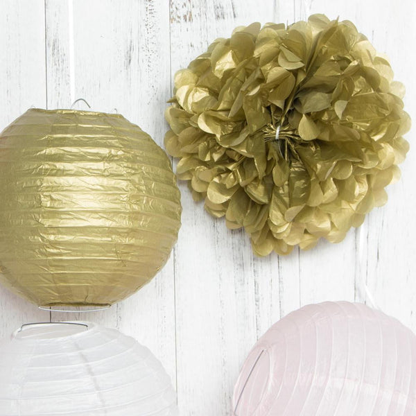 Gold Pink White Paper Crafts Party Decoration - Sunbeauty