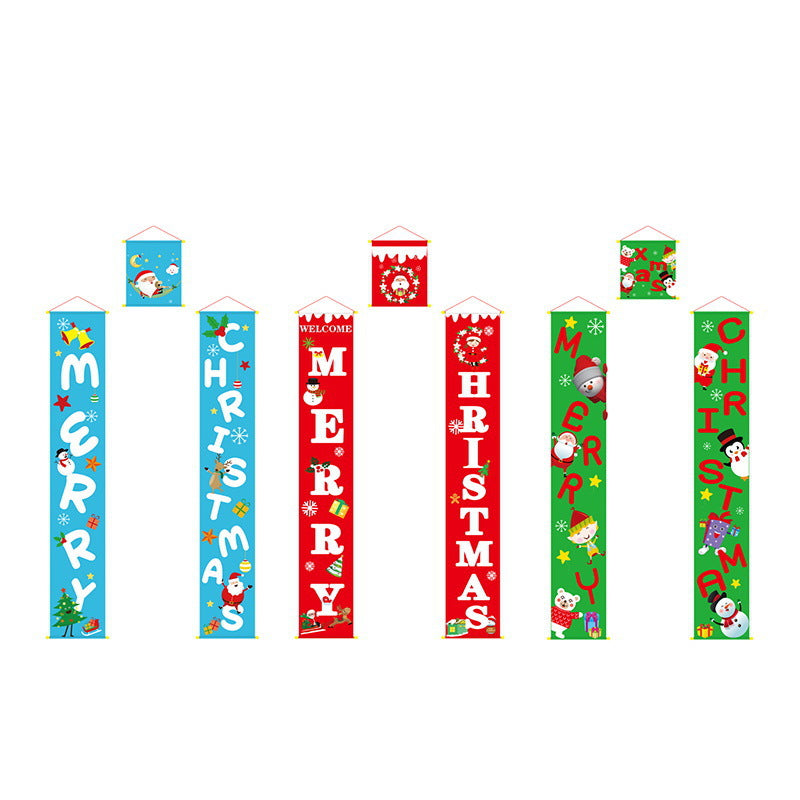 3Pcs Merry Christmas Banner Door Porch Sign - cnsunbeauty