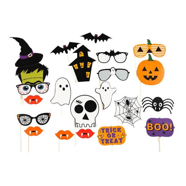 Halloween Photo Booth Props(22Pcs) - Sunbeauty