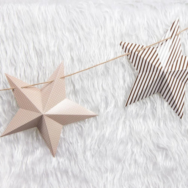 Christmas 3D Pentagonal Star & Deer Head Garland - Sunbeauty