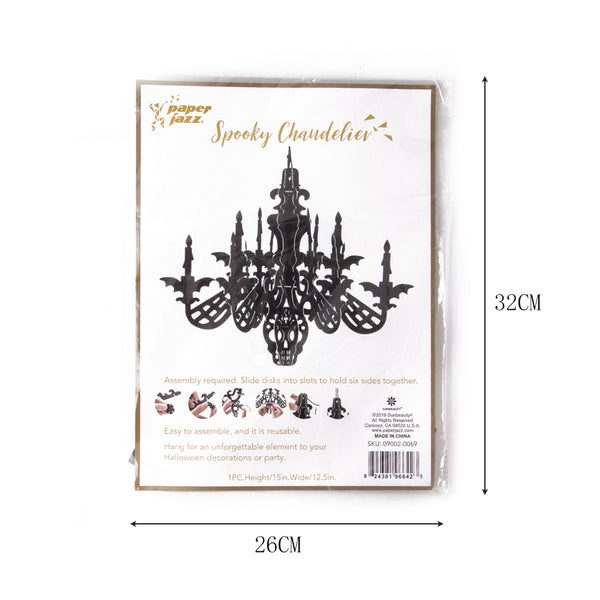 Halloween Paris Paper Hanging Chandelier - Sunbeauty
