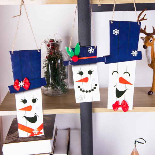 Christmas Snowman Expression Ornaments - Sunbeauty