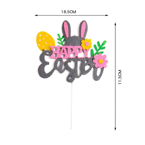 Easter Bunny Edible Cake Toppers - Sunbeauty