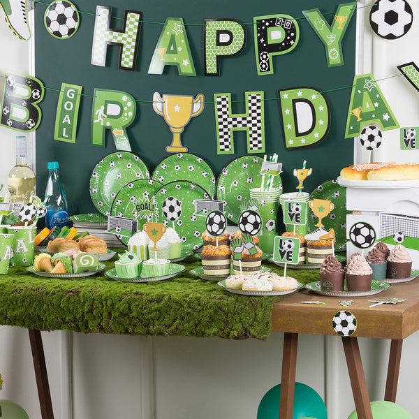 Soccer Boys Kids Birthday Baby Shower Party Decoration