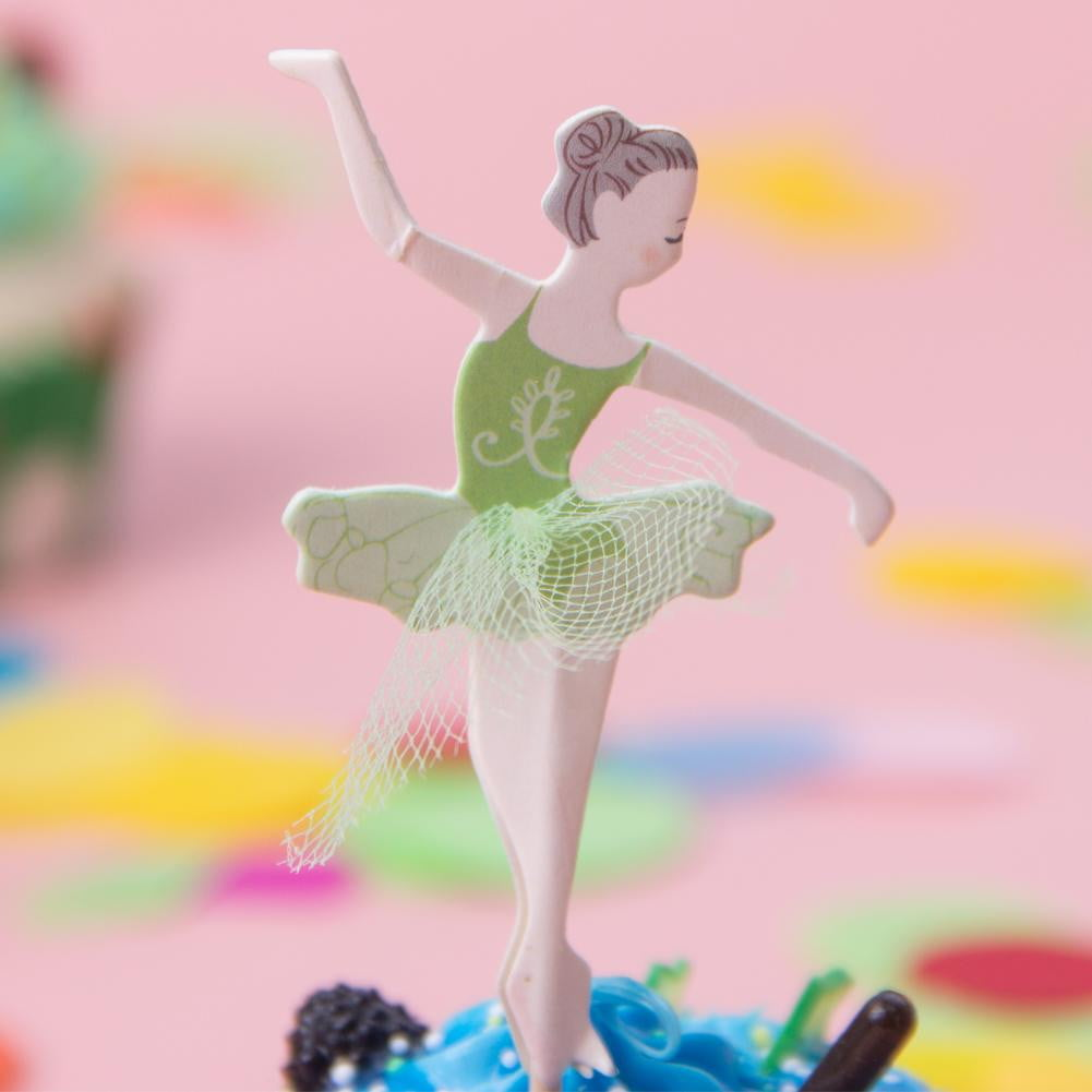 Ballet Dancer Girls Birthday Personalised Cake Toppers - Sunbeauty