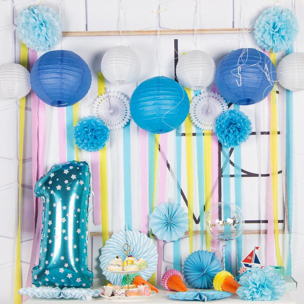 Under The Sea Theme Blue Party Decorations Kit(17Pcs) - Sunbeauty