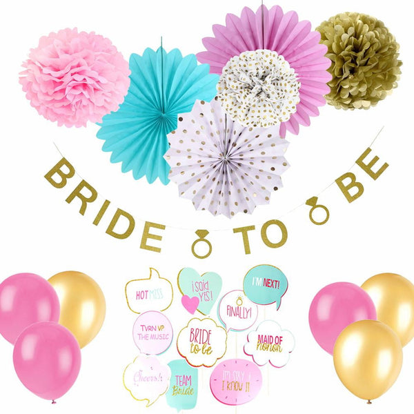 Bachelorette Party Décor Bride to Be Wedding Supplies - Sunbeauty