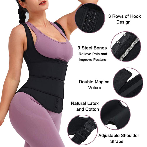 Latex Underbust Corset Waist Trainer-FreeShipping