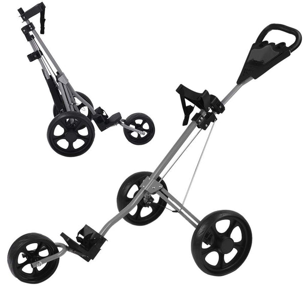 Professional Golf Cart New 4-Wheel Foldable Trolley-FreeShipping