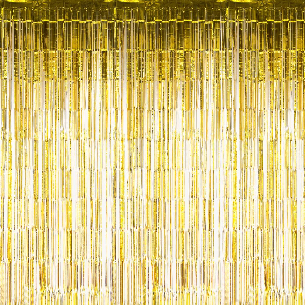Gold Foil Curtains - cnsunbeauty