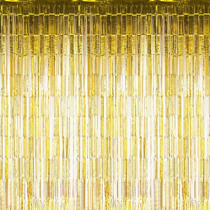 Gold Foil Curtains - Sunbeauty
