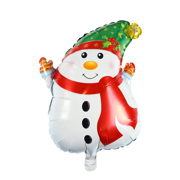 Happy Christmas Party Supplies Snow Man Foil Balloon - Sunbeauty