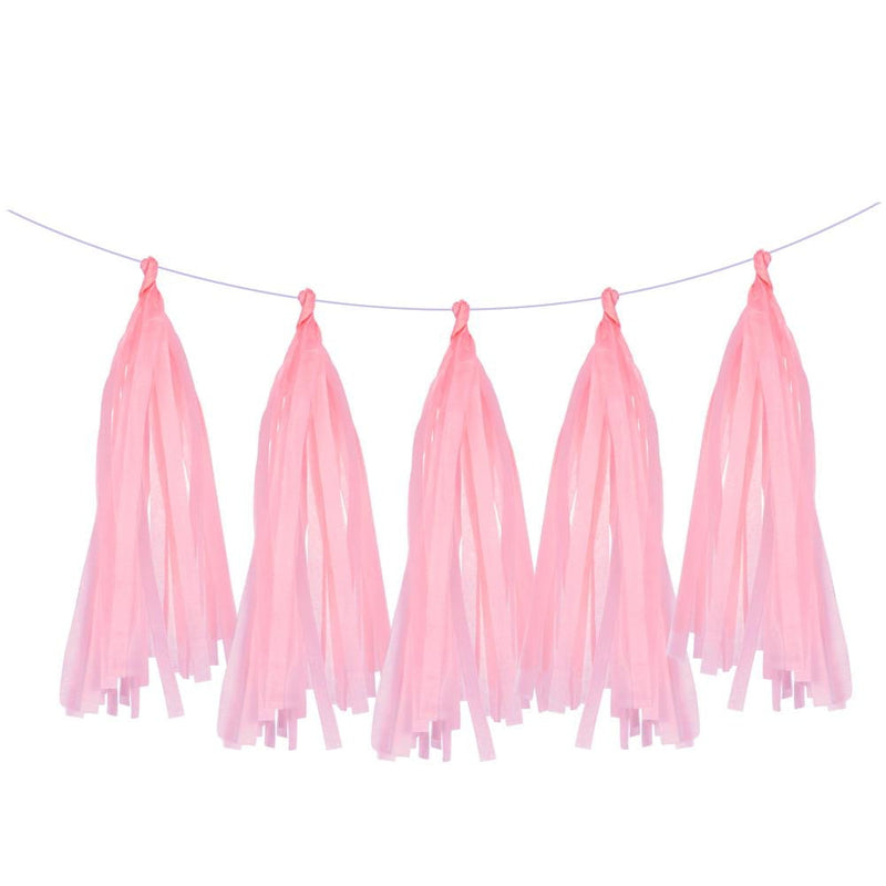 5Pcs Light Pink Tissue Paper Tassel - Sunbeauty