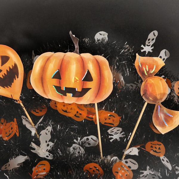 Halloween Ghost&Pumpkin Photo Booth Props(10Pcs) - Sunbeauty