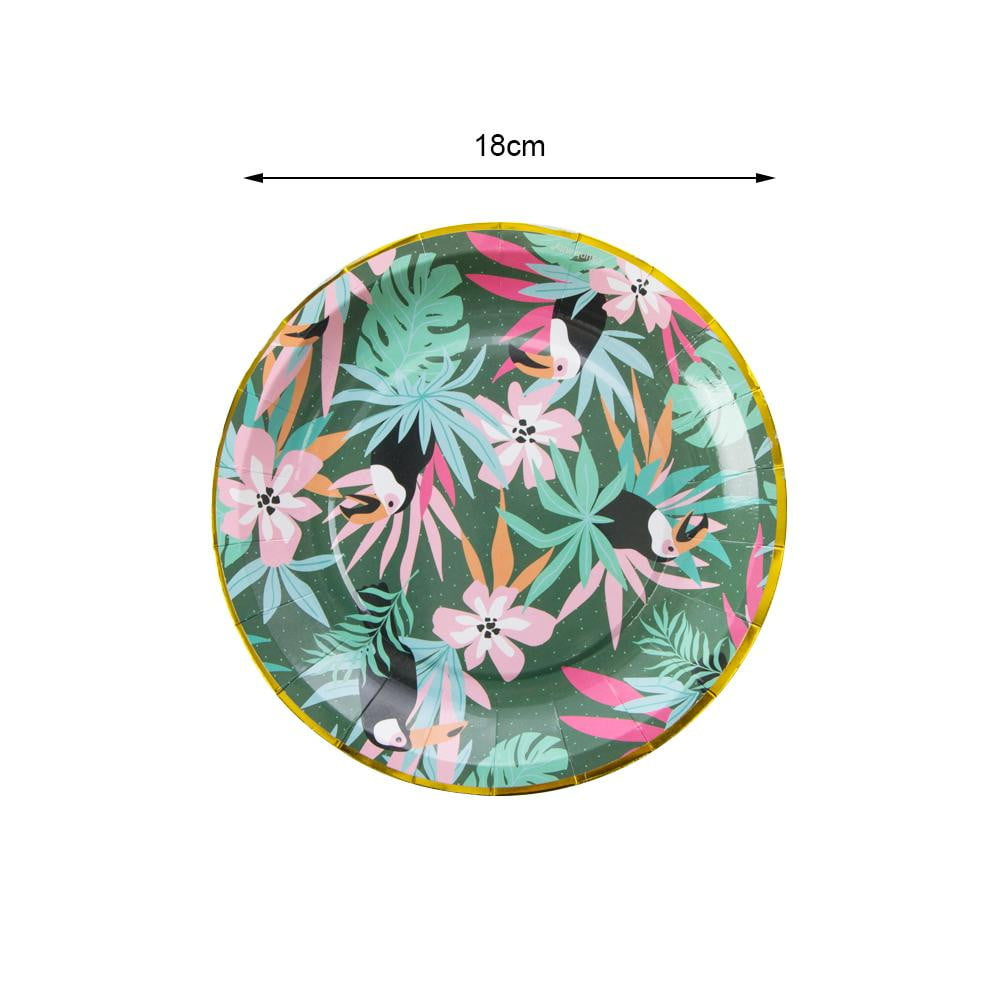 Rainforest Paper Plate(12Pcs) - Sunbeauty