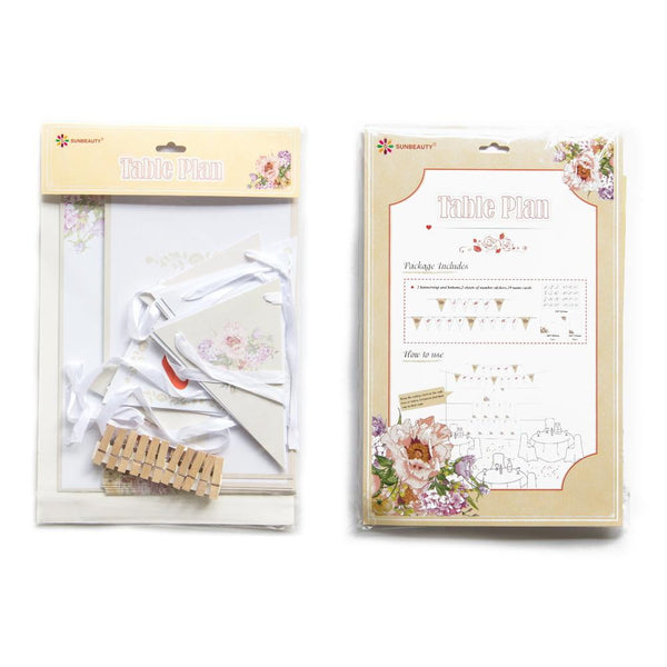 Wedding Planing Seat Number Banner - Sunbeauty