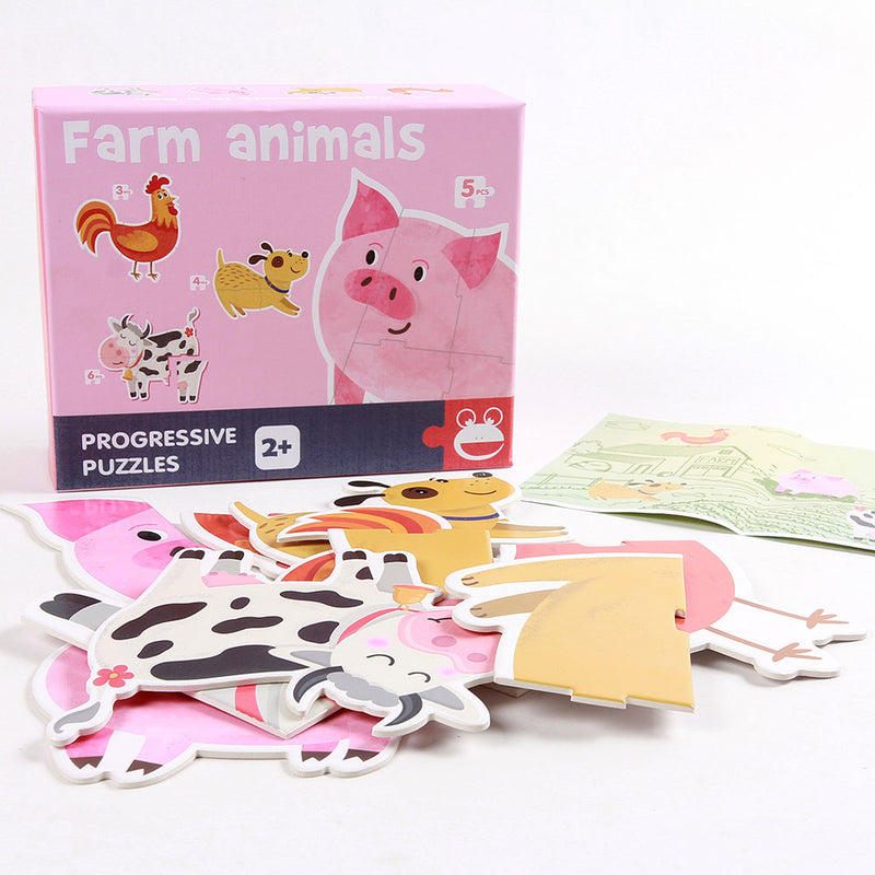 FreeShipping-4 Animal Puzzles for Toddler - cnsunbeauty