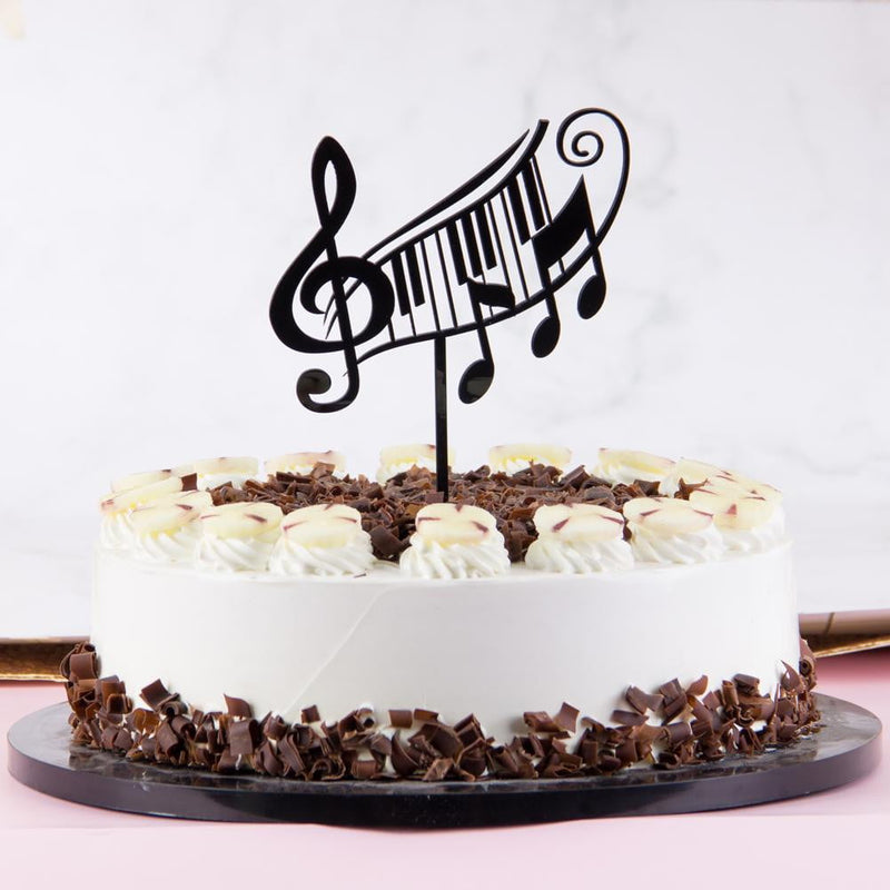 Piano Music Note Cake Topper - Sunbeauty