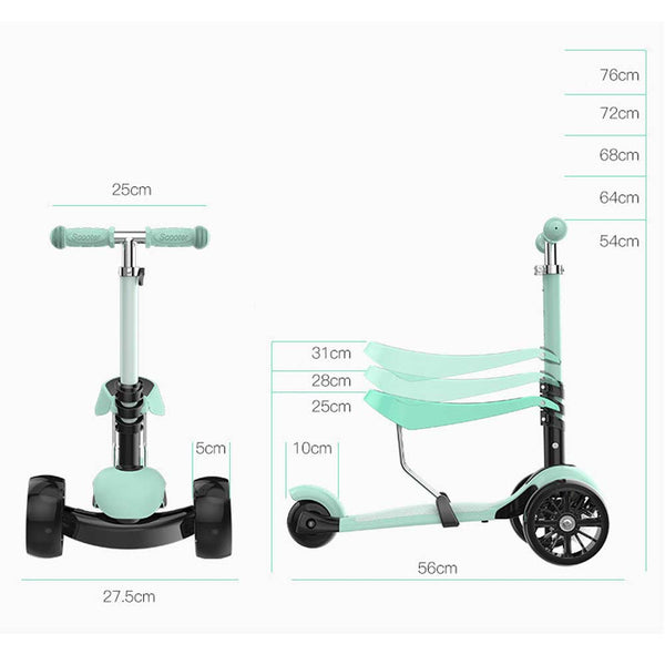 Children Scooters with Light Up Wheels-FreeShipping