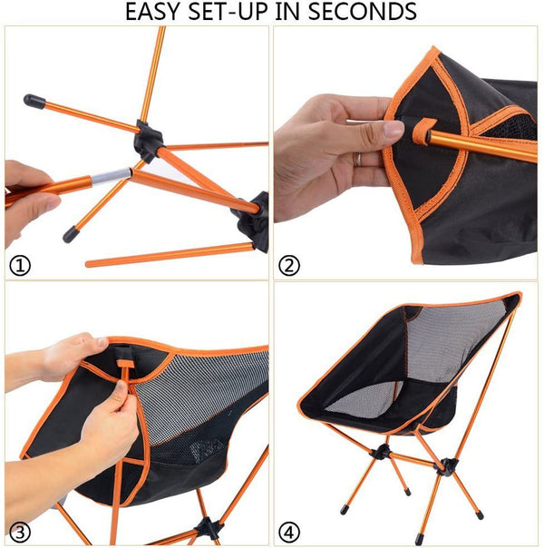 Lightweight Camping Backpacking Fold Chair-FreeShipping - Sunbeauty