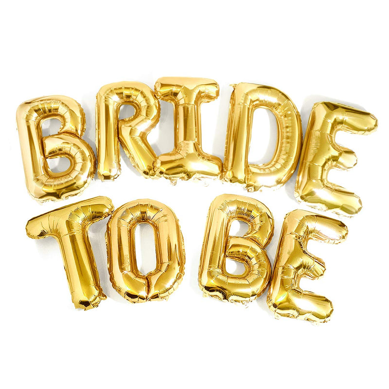 Bachelorette Party Gold Bride to BE Balloons-50Pcs Free Shipping - cnsunbeauty