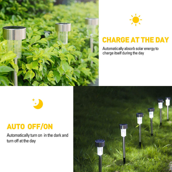 10pcs Solar Outdoor Pathway Lights-FreeShipping - Sunbeauty