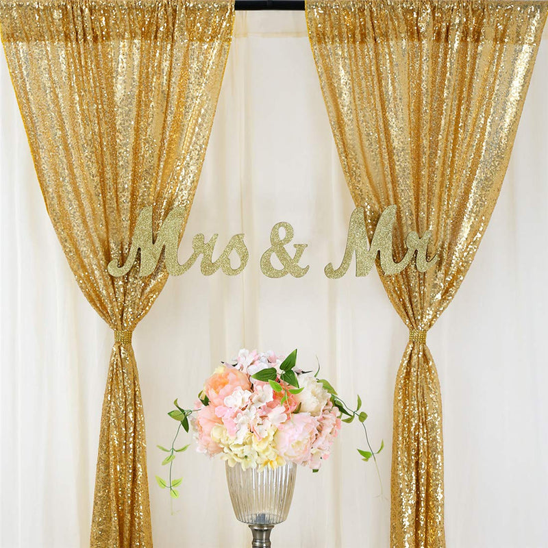 Sequin Wedding Backdrop Photography Background Party Curtain - Sunbeauty