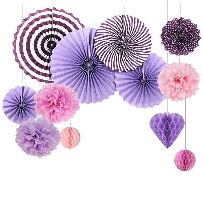 Pink Purple Valentine's Day Decoration Set - Sunbeauty