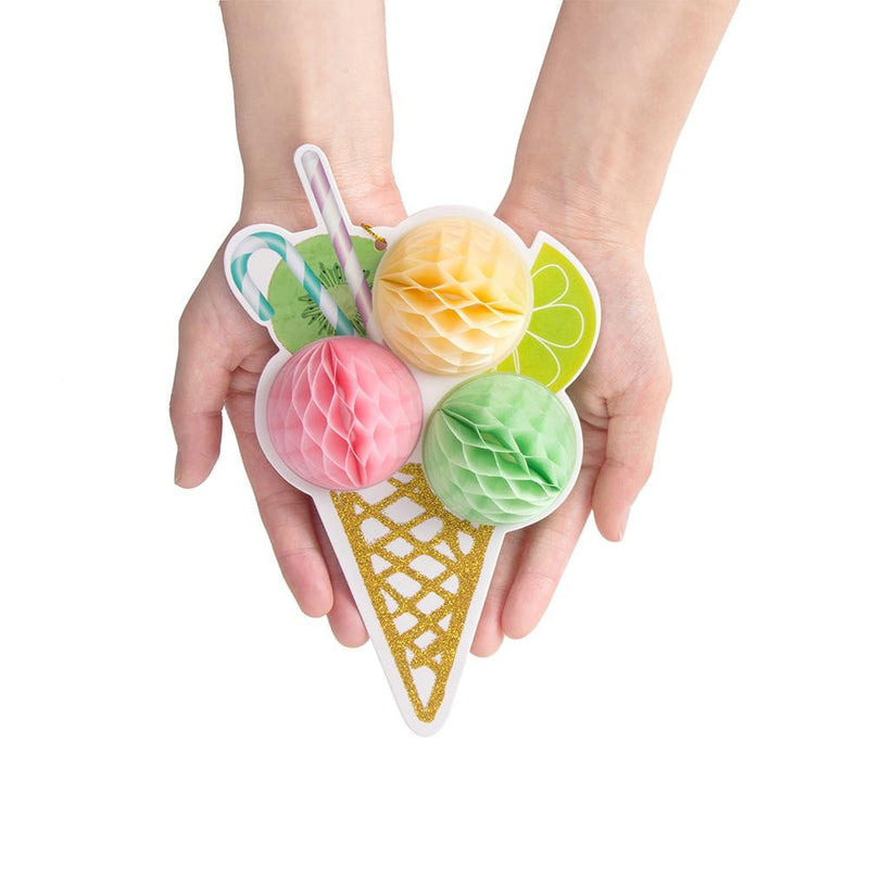 Tricolor Ice Cream Honeycomb Decoration - Sunbeauty