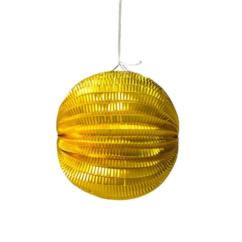 19cm Gold&Silver Hanging Watermelon Lantern