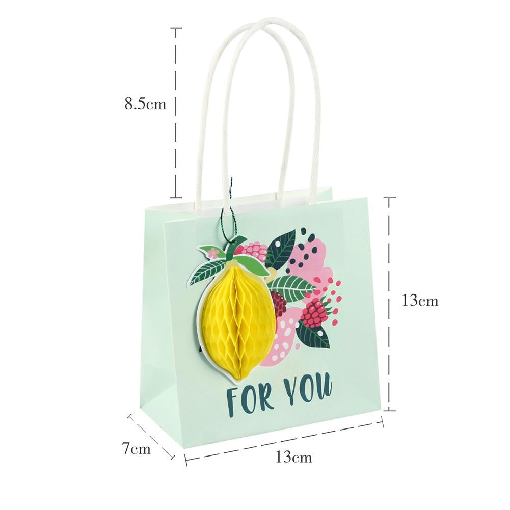 Summer Fruit Paper Gift Bag(3Pcs) - cnsunbeauty