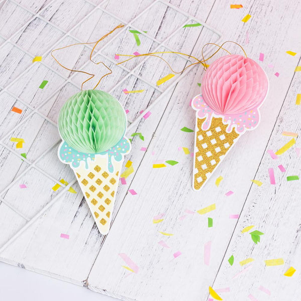 Ice Cream Honeycomb Decoration(2Pcs) - Sunbeauty