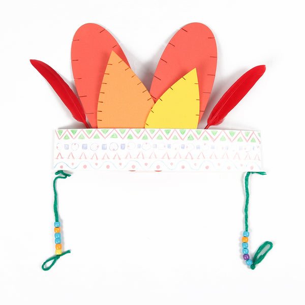 DIY Indian Feather Headband Head Decoration Hat - Sunbeauty