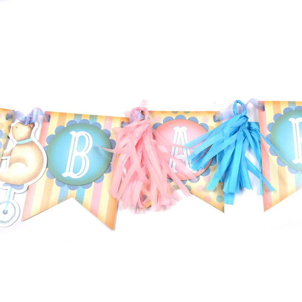 DIY Circus Fringed Banner - Sunbeauty