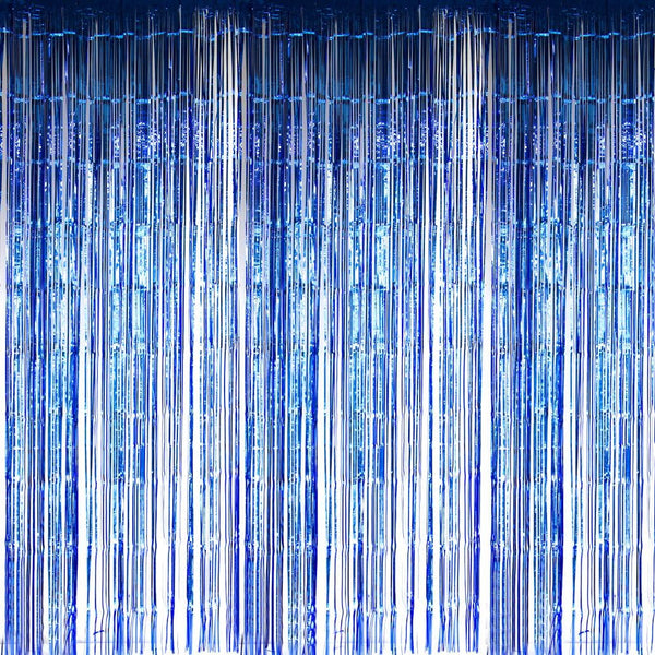 Blue Foil Curtains - Sunbeauty