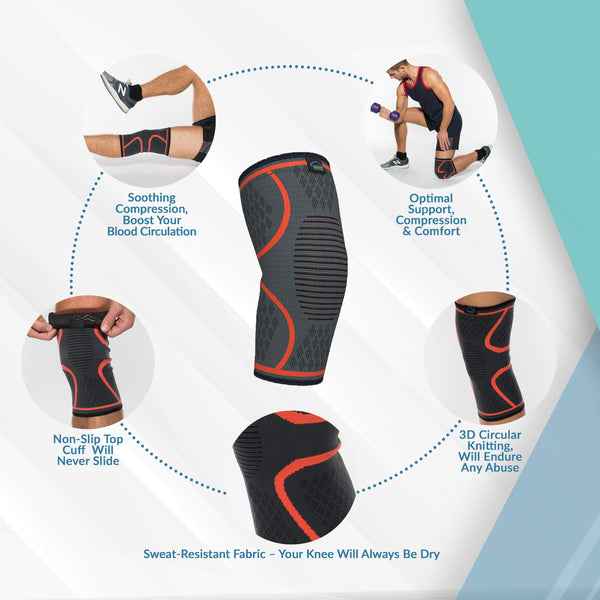 2 Pack Knee Compression Sleeve-FreeShipping - Sunbeauty