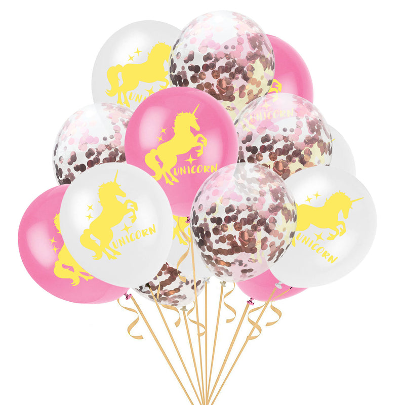 Theme Party Unicorns Latex Balloons (Gold) - Sunbeauty
