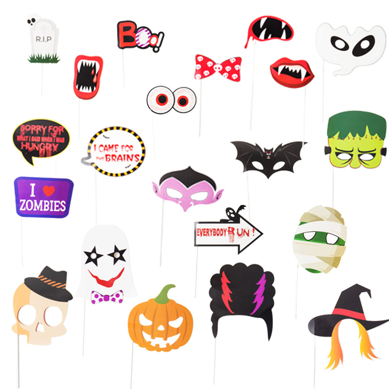 Funny Halloween Party Favor Photo Booth Props(21Pcs) - Sunbeauty