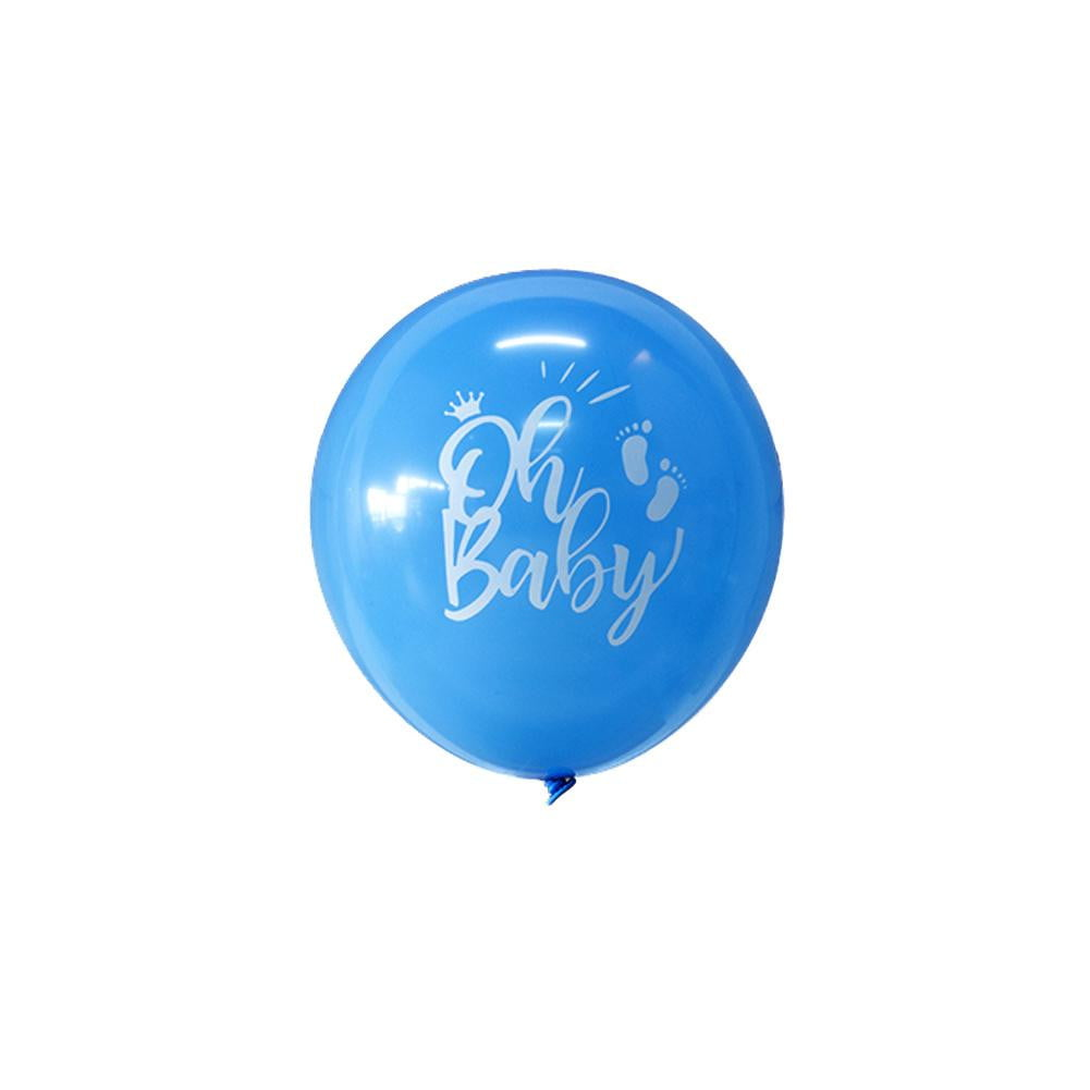 Narwhal Baby Shower Latex Balloon 9Pcs(Blue) - Sunbeauty