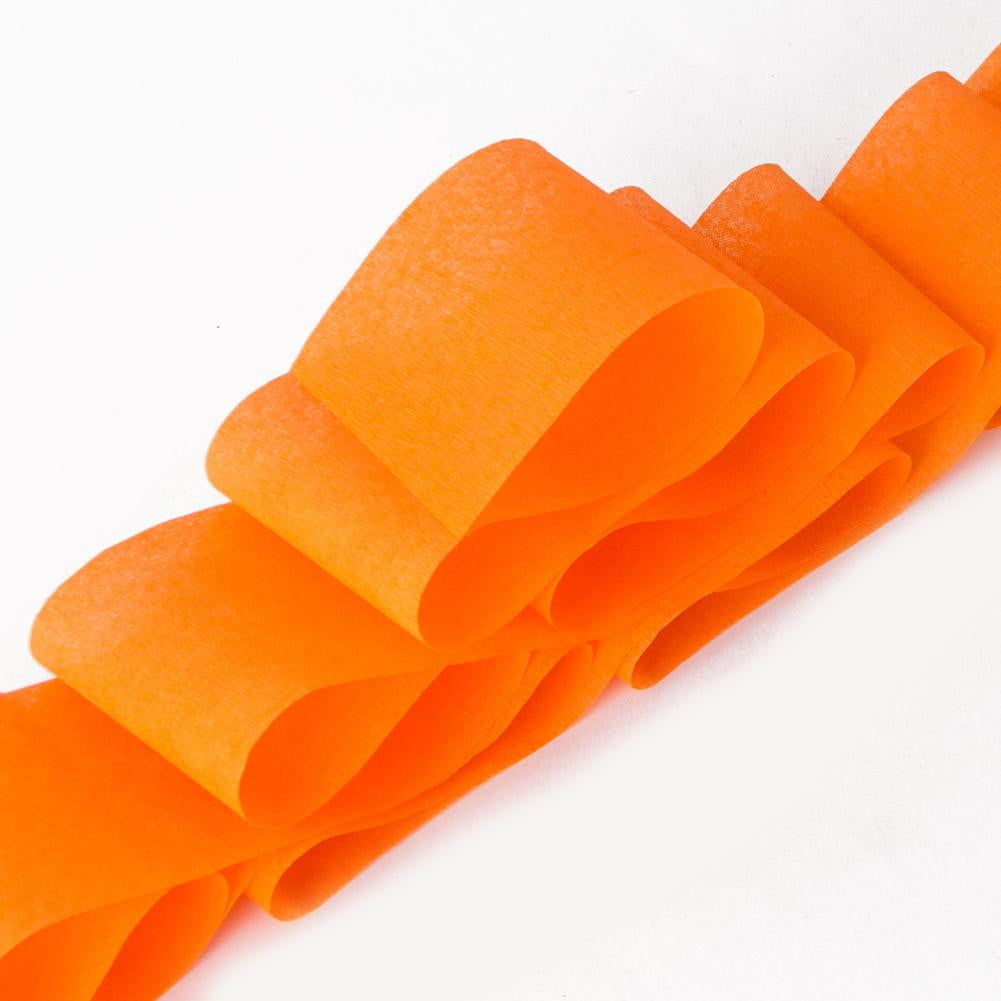 Orange Crepe Paper Roll - Sunbeauty