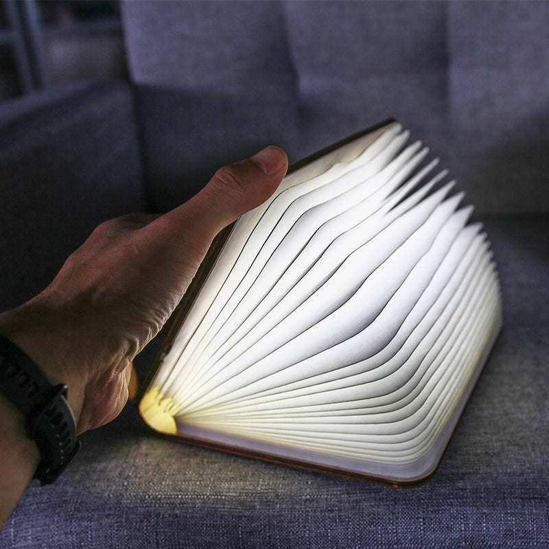 USB Rechargable Book Shaped Folding Light Led Table Lamp for Decor - cnsunbeauty