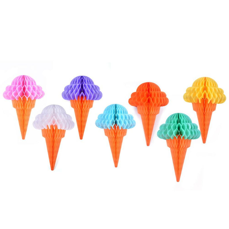 Ice Cream Tissue Paper Honeycomb Balls - Sunbeauty