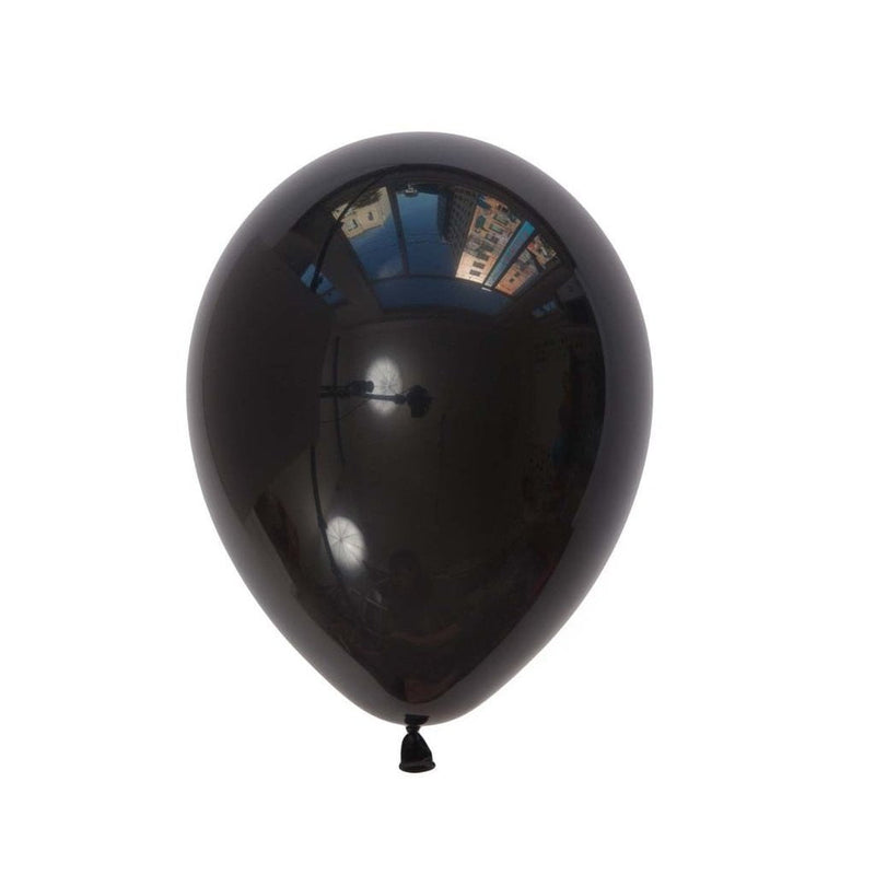 5Pcs Black Latex Balloon Kit - Sunbeauty