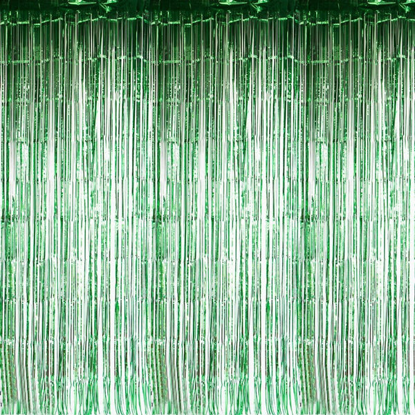Green Foil Curtains - Sunbeauty
