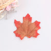 Assorted Mixed Fall Colored Artificial Maple Leaves-50Pcs Free Shipping - Sunbeauty
