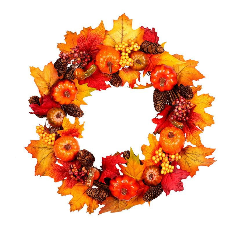 Thanksgiving Pumpkin Pine Garland(Light) - Sunbeauty