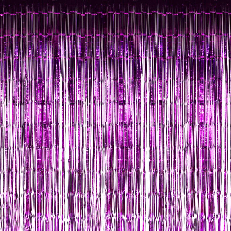 Purple Foil Curtains - cnsunbeauty