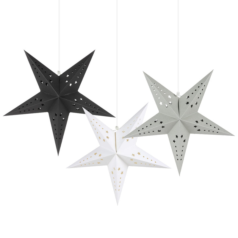 Hanging Five-Pointed Paper Star Lantern Cover - cnsunbeauty