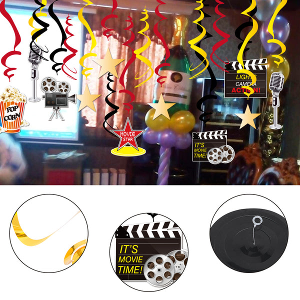 Film Festival Decoration Spiral PVC Flag